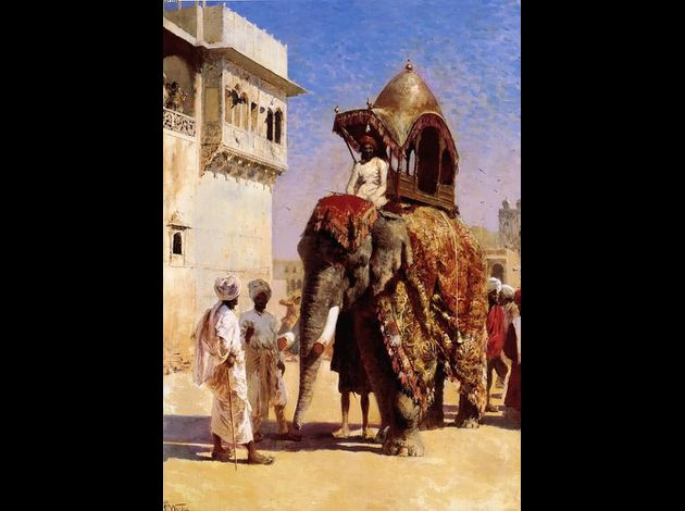 Edwin Lord Weeks- Moguls Elephant