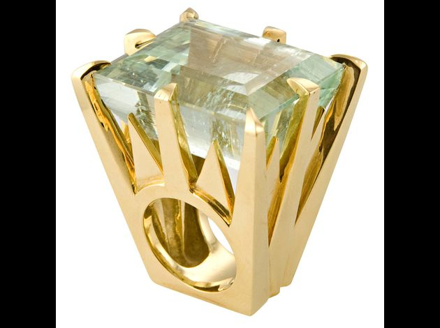 ai-Tony Duquette aquamarine ring, $26,000
