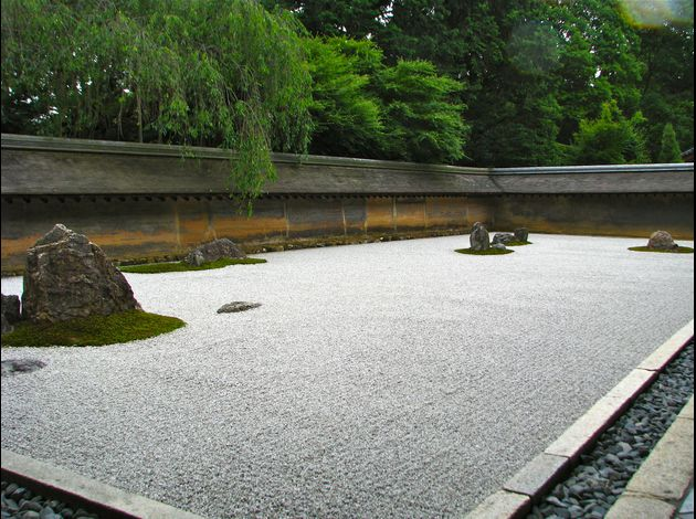 Jardin sec zen du Ryoanji de kyoto