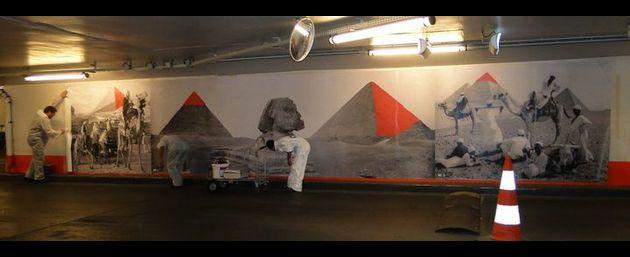 installation de bache decoration parking souterrain. Black Bedroom Furniture Sets. Home Design Ideas