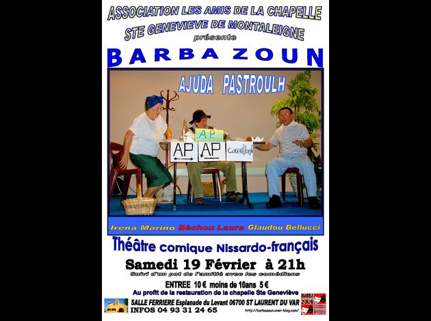 Affiche A.P. Barba Zoun St Laurent 19.2.2011