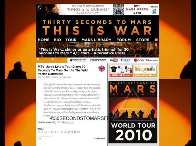 site 30 seconds to mars 2010