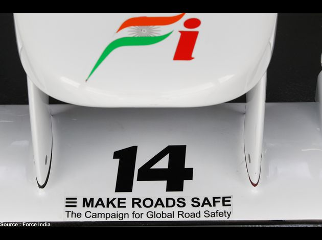 Force India - sticker Make road safe