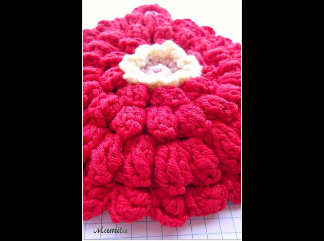 dishcloth zinnia 2