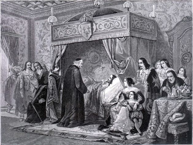Mort de Louis XIII de France à Saint-Germain en Laye Vincent de Paul at deathbed of Louis XIII