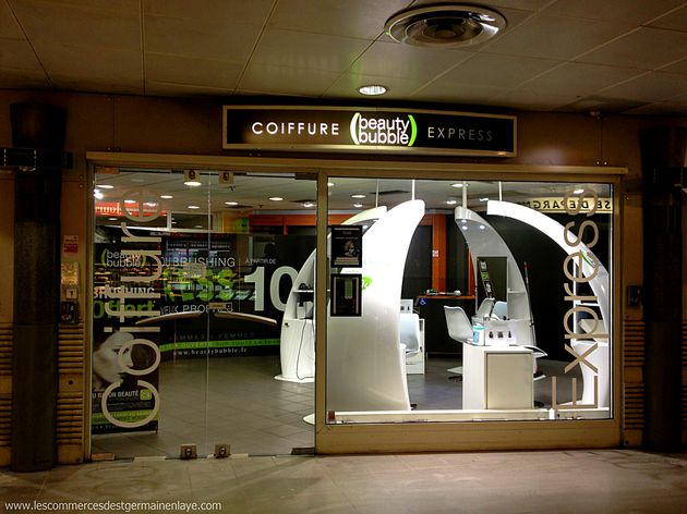 Beauty Bubble ciffure express s'installe dans la station de RER de Saint-Germain-en-Laye