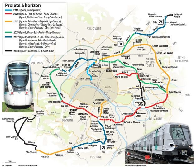 Le superm tro du grand paris express va t il racheter for Combien coute le metre carre a paris