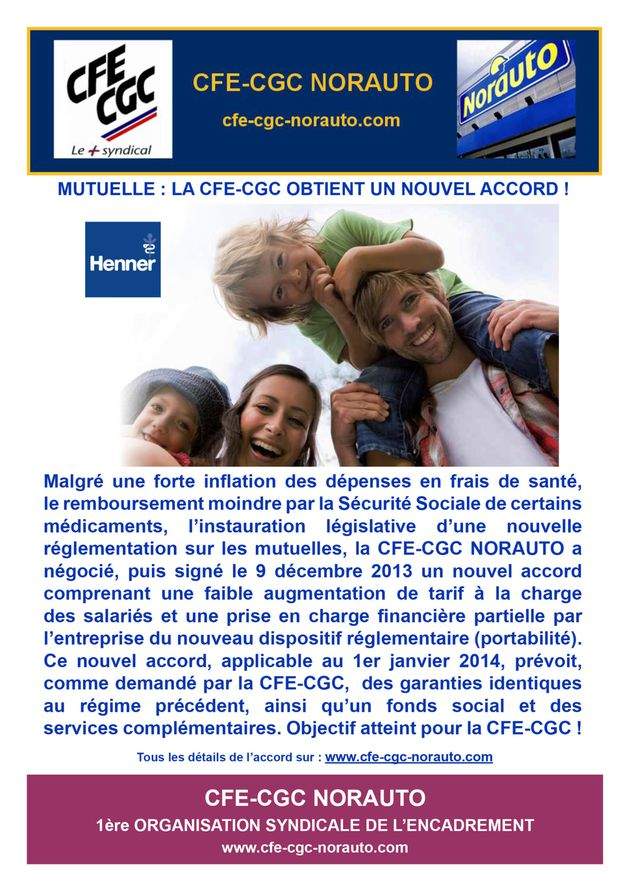 Accord Mutuelle Norauto 2014-