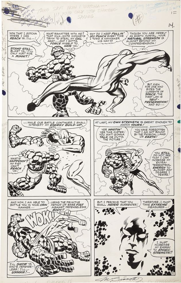 Jack Kirby and Joe Sinnott - Fantastic Four #55, page 11 O