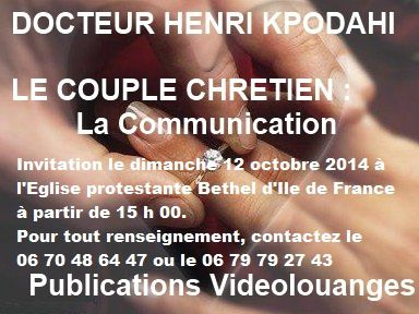 Invitation LE COUPLE CHRETIEN