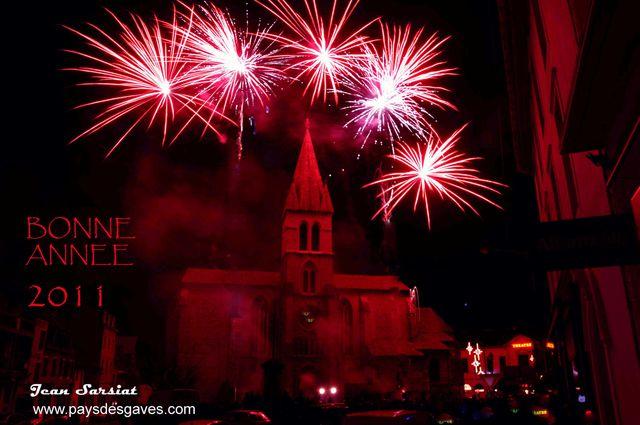 ORTHEZ embrasement Noël 2010 église St Pierre (photo Jean