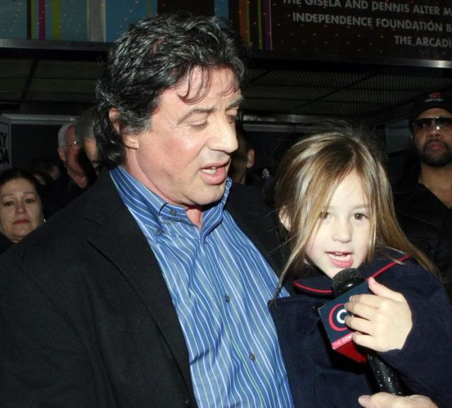 Sylvester Stallone et de sa fille Rose
