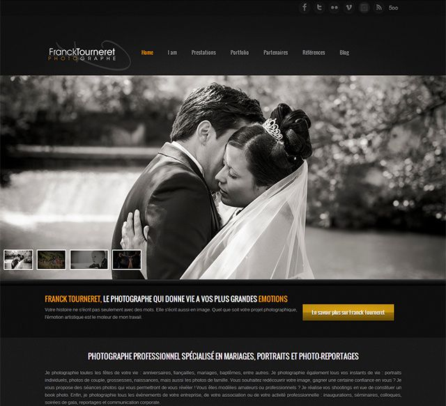 Website Franck Tourneret Photographe