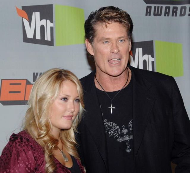David Hasselhoff et sa fille Hayley