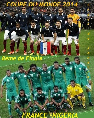 Coupe du monde 2014 la france en 8 me de finale face au nigeria le 2 me du groupe le blog de - Groupe france coupe du monde 2014 ...