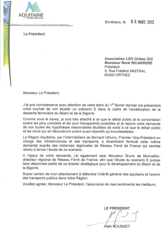 LGV lettre Rousset