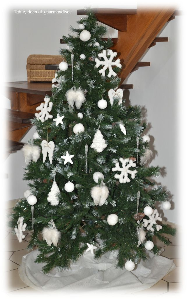 Sapin de noel or et argent for Sapin de noel decoration