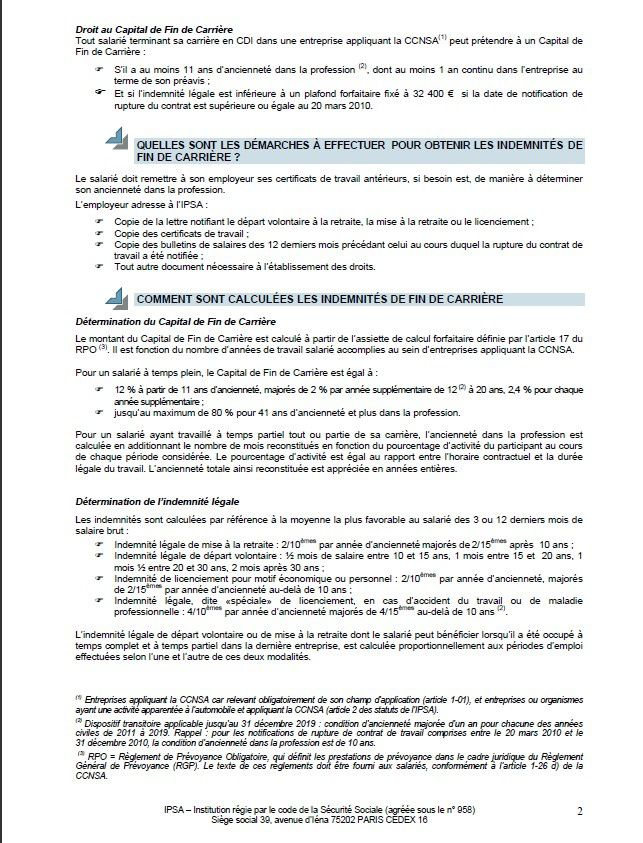 Le Capital De Fin De Carriere Explications Cfe Cgc Auto