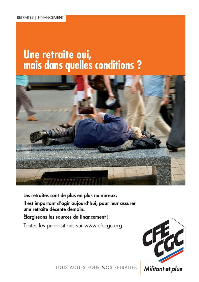 affiche retraite decente