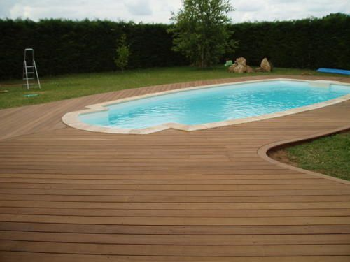 France terrasse bois for Piscine 93