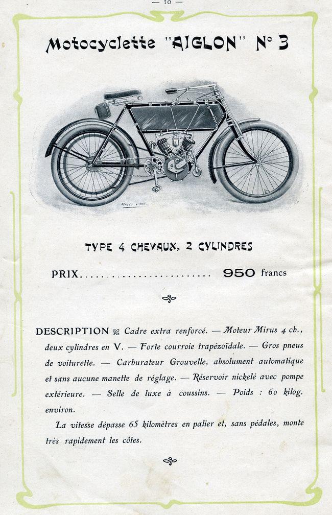 Aiglon 1906 modèle 3385