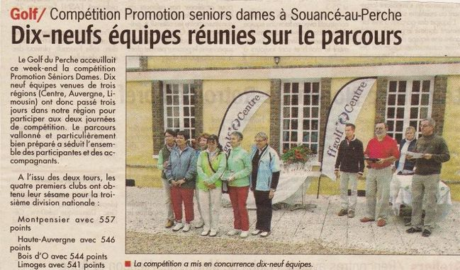 Article Promotion séniors dames