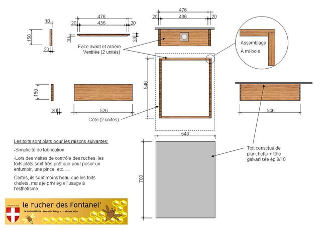 Plan de fabrication de ruche Dadant 10 cadres page6
