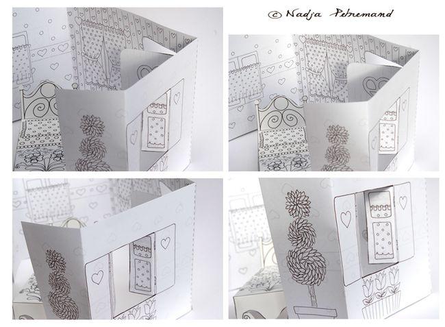Les coloriages des petits poissons dans mon bocal - Maison en papier a imprimer ...