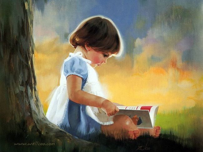 painting children childhood kjb DonaldZolan 03ByMyself sm