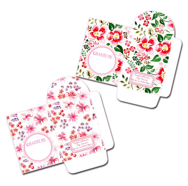 free printable package for seeds gratuit sachet graines 1