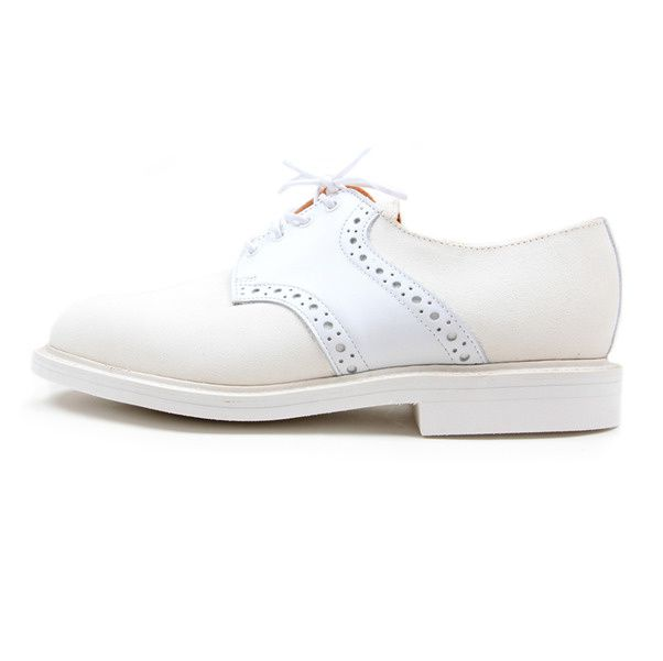 USSKB Mark McNairy White Lea Suede Saddle Shoe01
