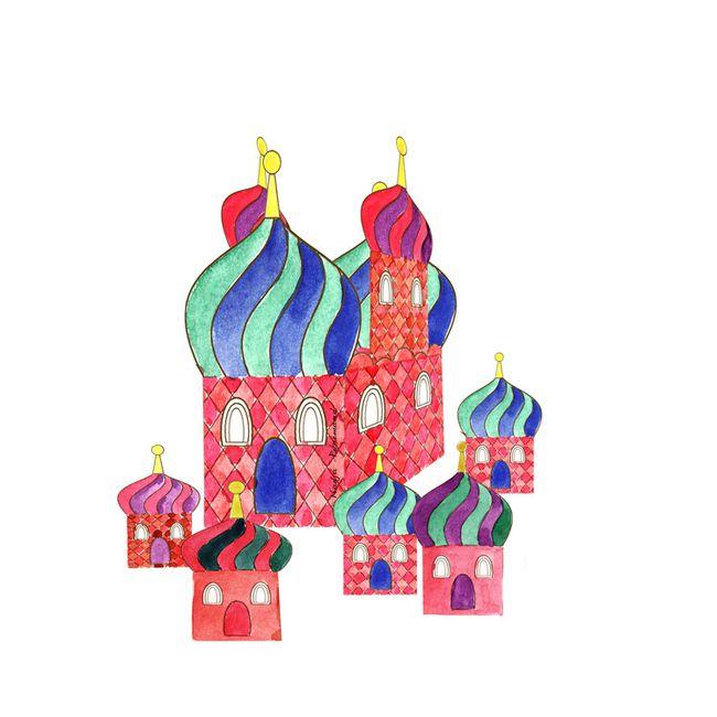 village russe illustration