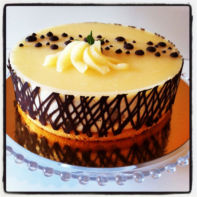 decoration entremet poire