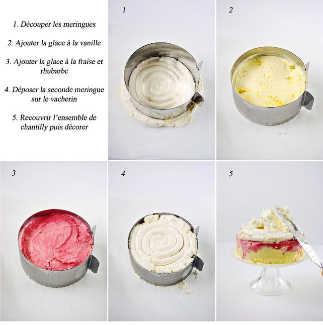 Gateau vacherin meringue