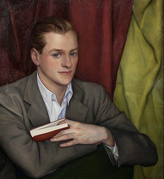 Portrait of a Young Man holding a Red Book, 1941. Luigi Luc