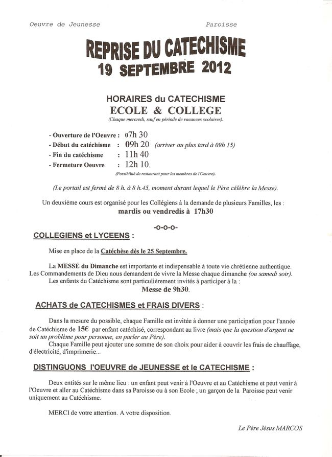 LETTRE CATE 2012