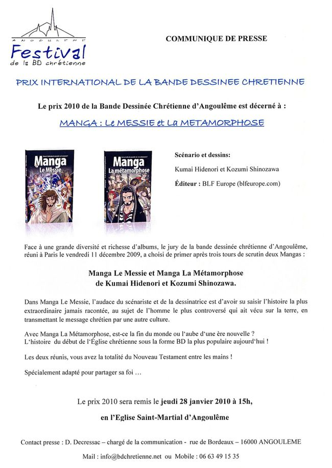 Prix International Bande dessinée