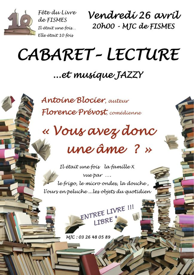 affiche cabaret lecture 26 avril 2013