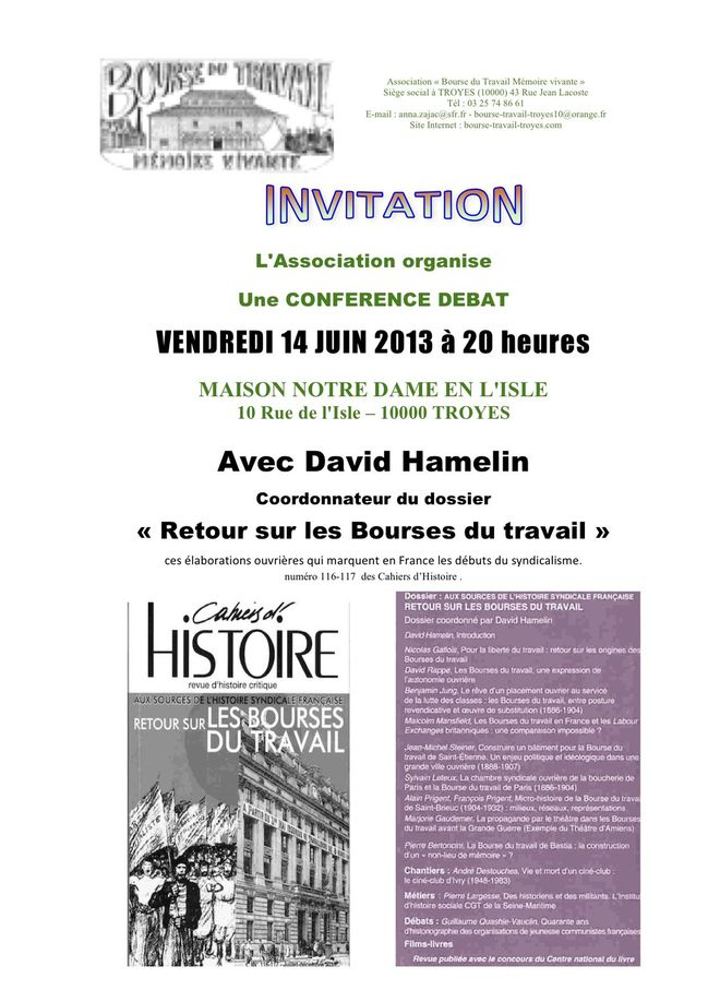 bourse invitation