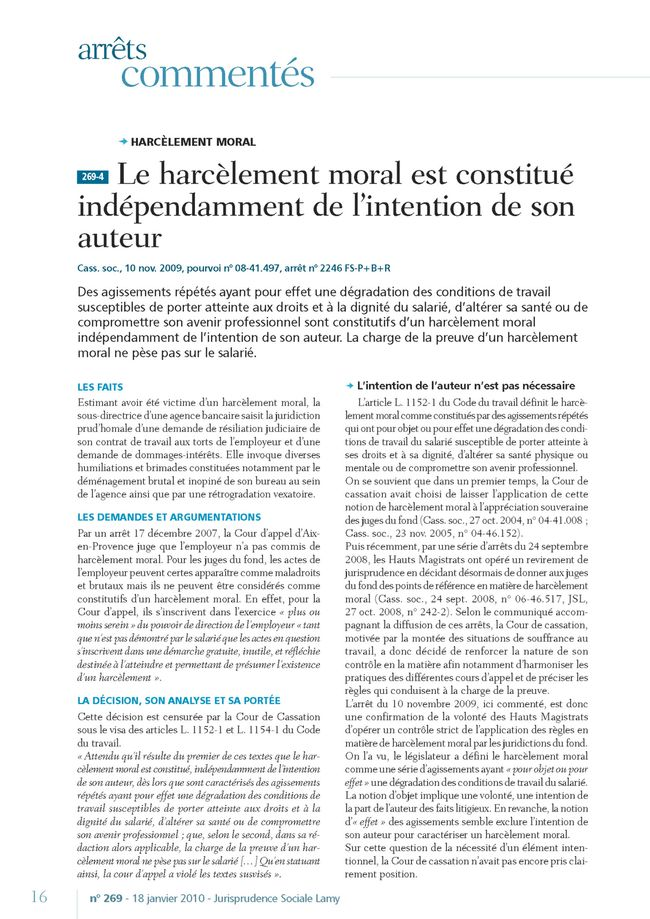 Harcelement moral Page 1