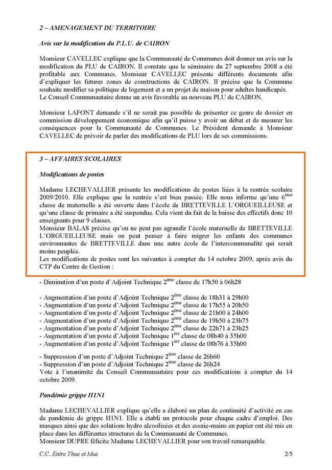 20090909 - thue et mue - conseil communautaire Page 2