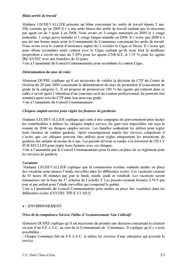 20090909 - thue et mue - conseil communautaire Page 3