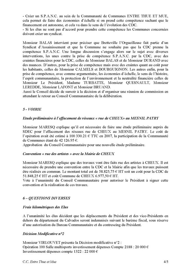 20090909 - thue et mue - conseil communautaire Page 4