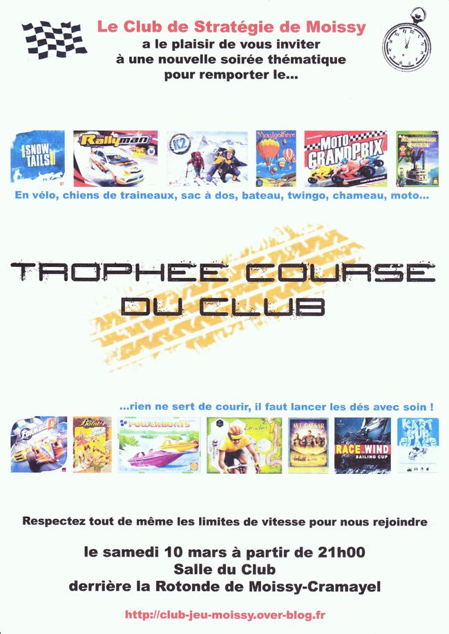 affiche course club