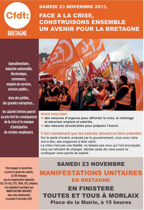 Manifestation Morlaix CFDT