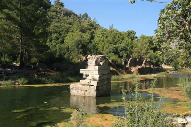 Cirali : site antique d'Olympos