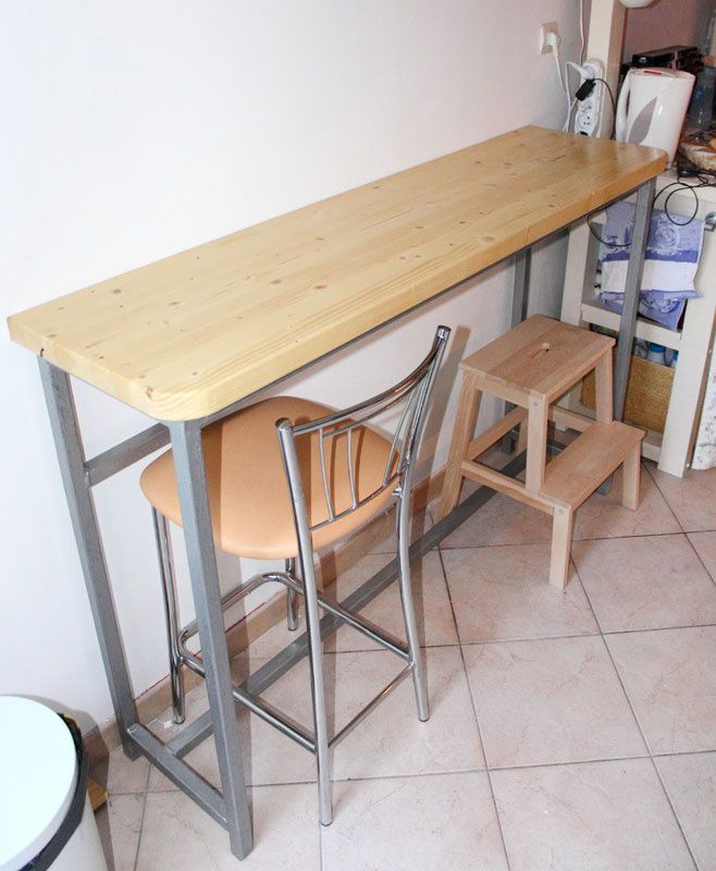 cr ation d 39 une table bar cuisine b tir sa maison