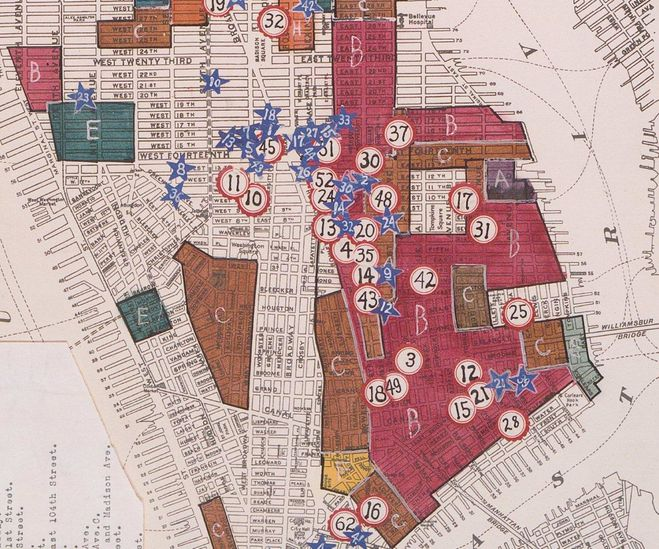 Nyc Sections Map Ethnic Map Nyc 1919 4