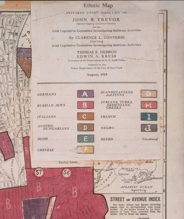 Ethnic Map NYC 1919 - 1, Key