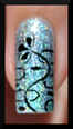 nail art faux stamping holo